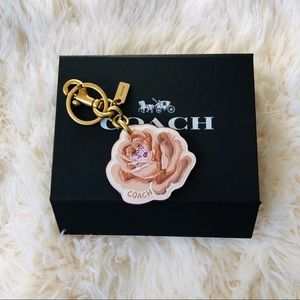 Coach Accessories - NWT: COACH Rose Floral Bag Charm